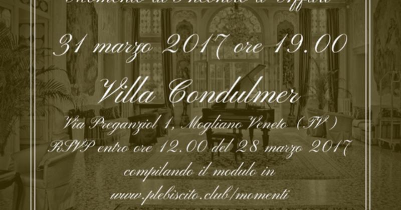 Momento di Incontro d'Affari in Villa Condulmer – Venerdì 31 marzo 2017 ore 19.00