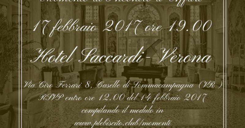 Momento di Incontro d'Affari a Verona, Hotel Saccardi – Venerdì 17 febbraio ore 19.00